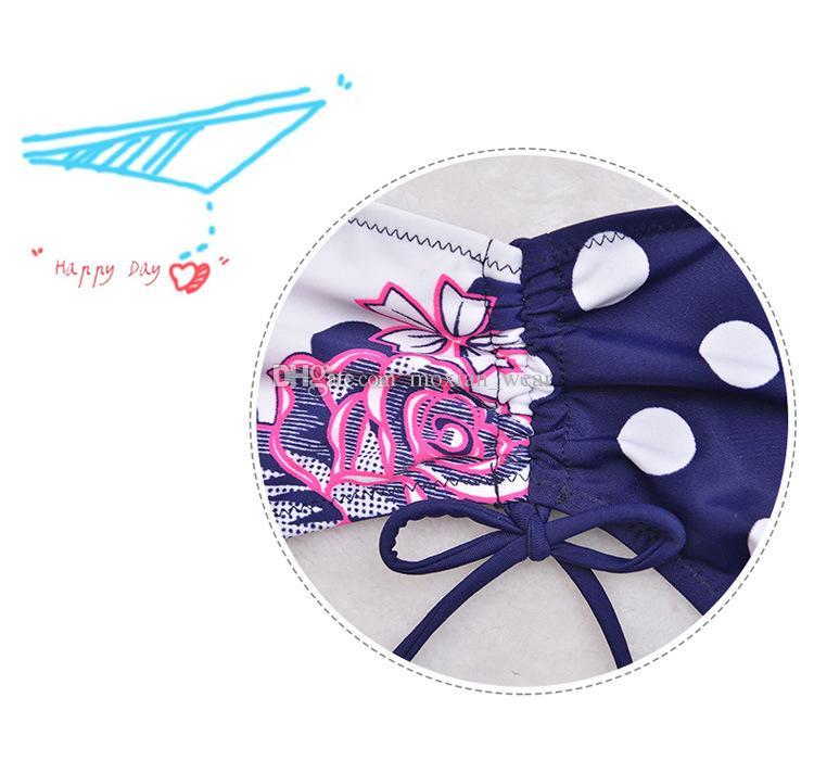 Dessert-Damenbikini Neuer großformatiger Badeanzug sexy Mode Retro-Druck Rosen Muster BH Übergewichtige Frau passen 3XL / 4XL / 5XL / 6XL / 7XL 2198
