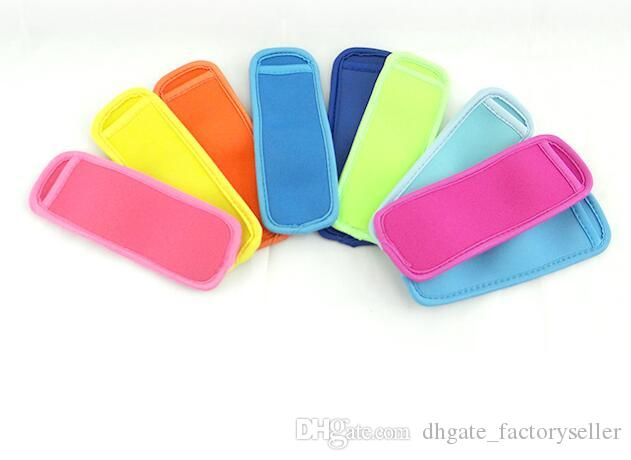 Hot sale low prices high quality Popsicle Holders Pop Ice Sleeves Freezer Pop Holders 8x16cm DHL Fedex UPS SF Fast Shipping