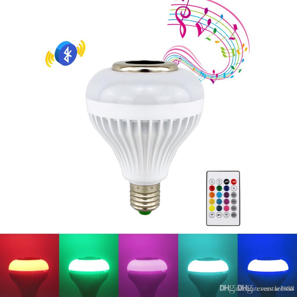 12W B22 E27 LED RGB Wireless Bluetooth Music Play Speaker /& Light Bulb Lamp