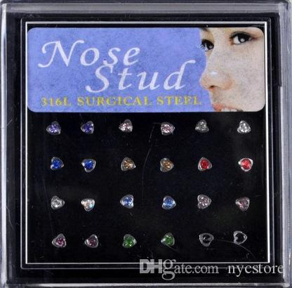 316L Stainless Steel Womens Body Jewelry Nose Studs Nose Ring Body Piercing