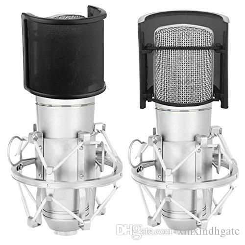 Dual Layer Recording Studio Microphone Mic Windscreen Pop Filter Mask Shield