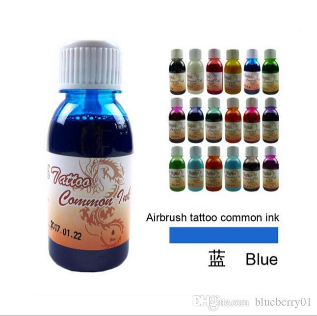 Nova 100 ml * 1 Airbrush Tatuagem Preta Tinta Comum Para A Pintura Do Corpo Suprimentos de Tatuagem Longa Duração Útil Frete Grátis
