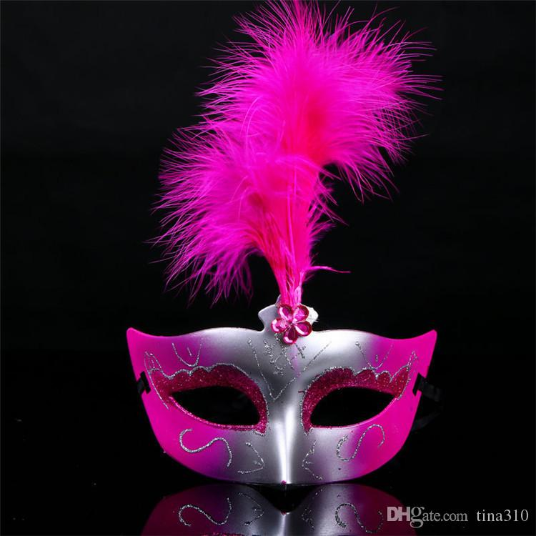 Best Sellers Costume party mask Venetian Feather Mask party decoration cute wedding gift Carnival Prop IA783
