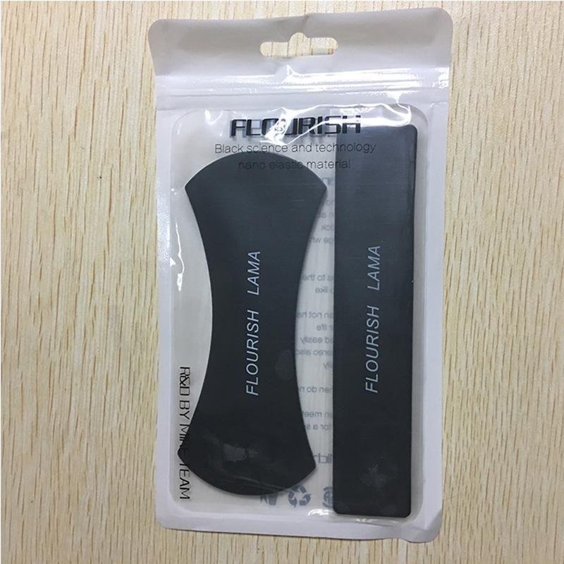 FLOURISH LAMA Support de téléphone portable Puissant puissant Autocollant peut être nettoyé à plusieurs reprises Nouvelle Arrivée Mobile Téléphone Stand Monte OPP sac