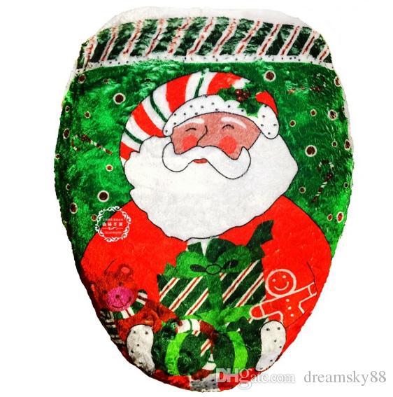 2017 Новый 4 Стили Xmas Санта Снеговик Туалет Сиденье Крышка Ванной Рождественский Праздник Украшения Подарок