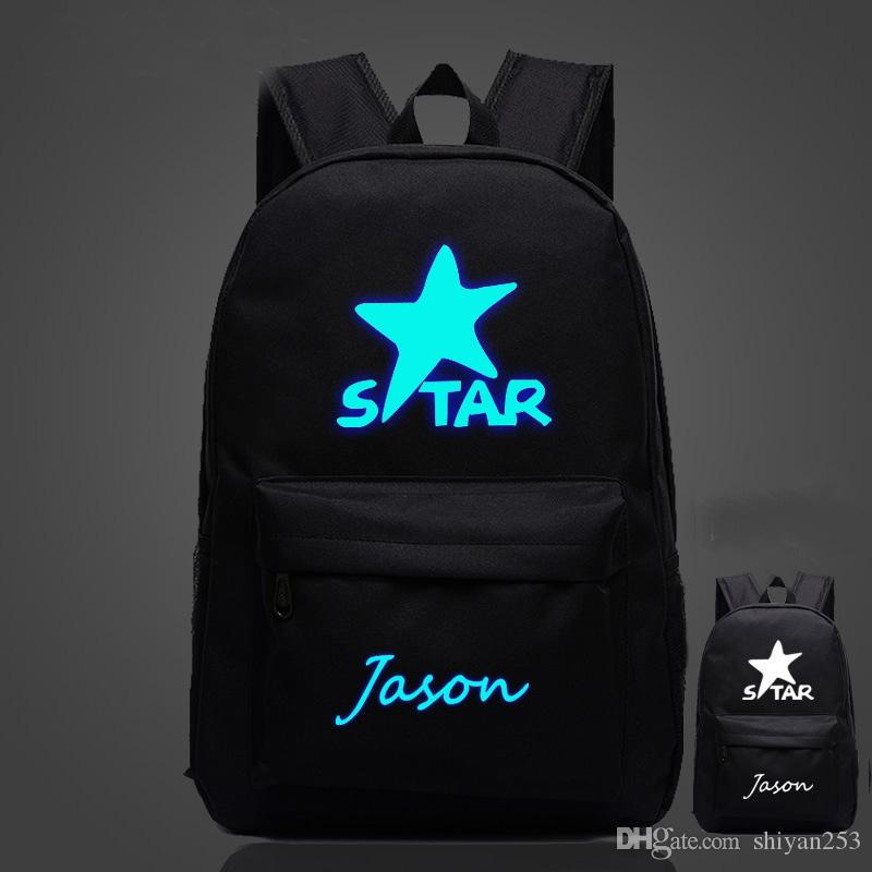 NEW Glow bags Luminous Printing Backpack Teenage Girls Cute Bookbags Vintage Laptop Backpacks Female Bat backpack
