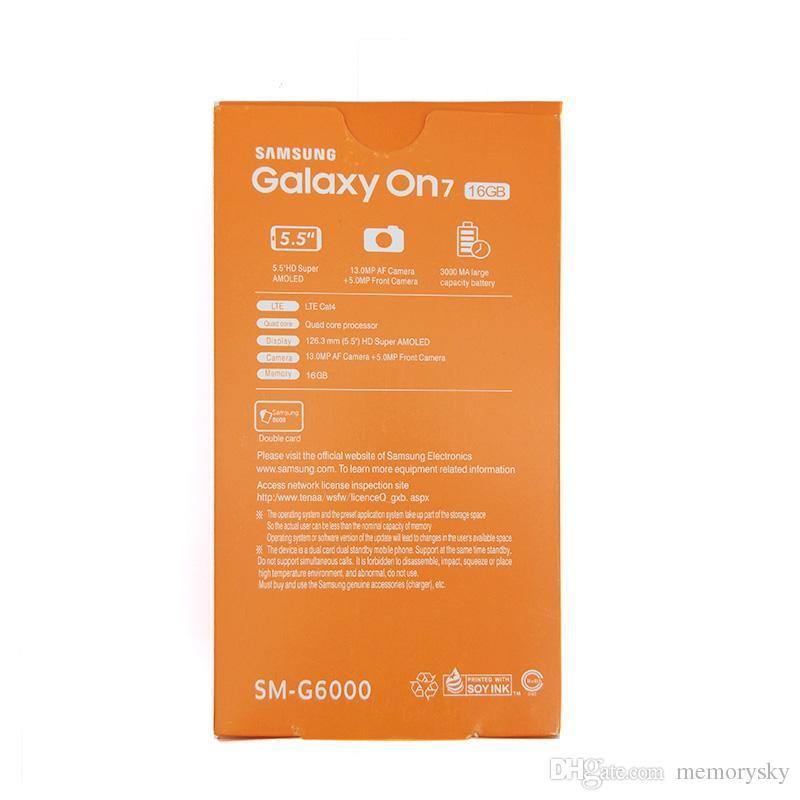 Reacondicionado Original Samsung Galaxy On7 G6000 desbloqueado teléfono celular 4G LTE Quad Core 16GB 5.5 pulgadas 13MP Dual SIM