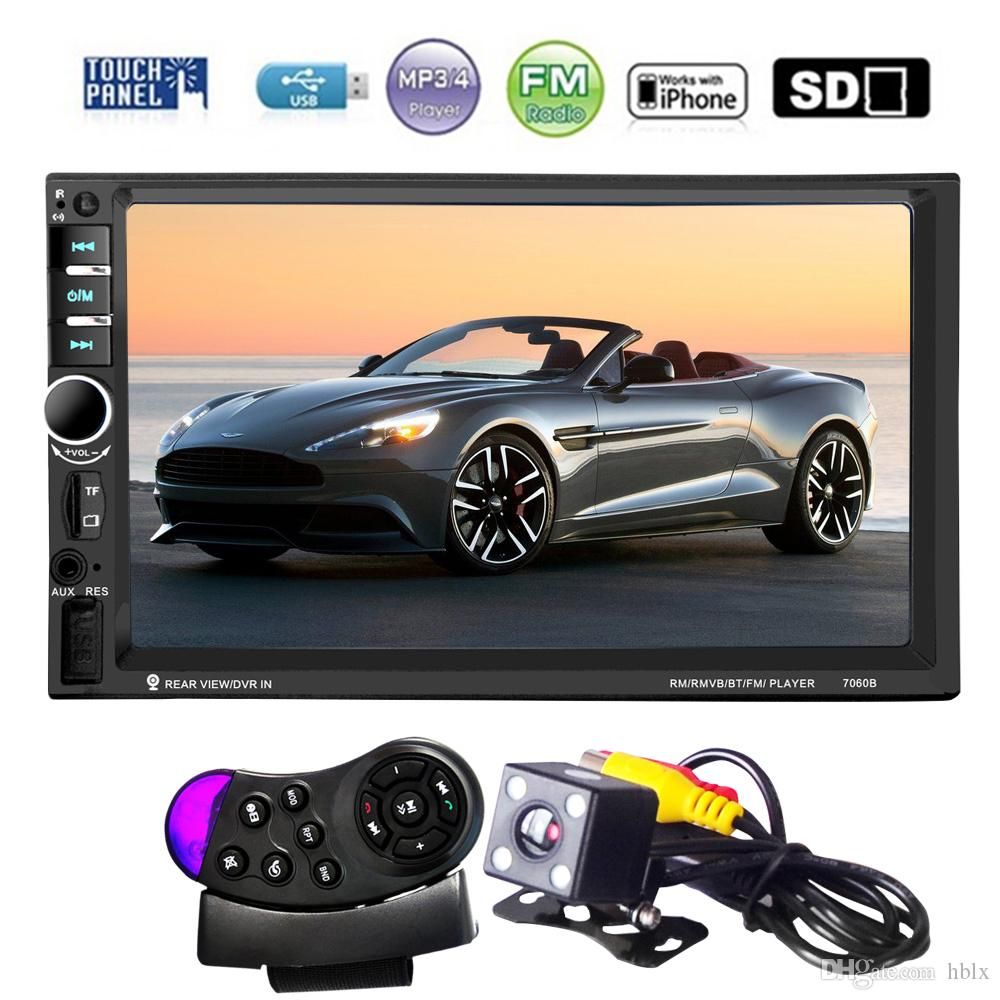 7 Inch HD Touch Screen 2 Din Bluetooth Car Audio Stereo FM MP5 Player Support AUX / USB / TF / Phone CMO_21M