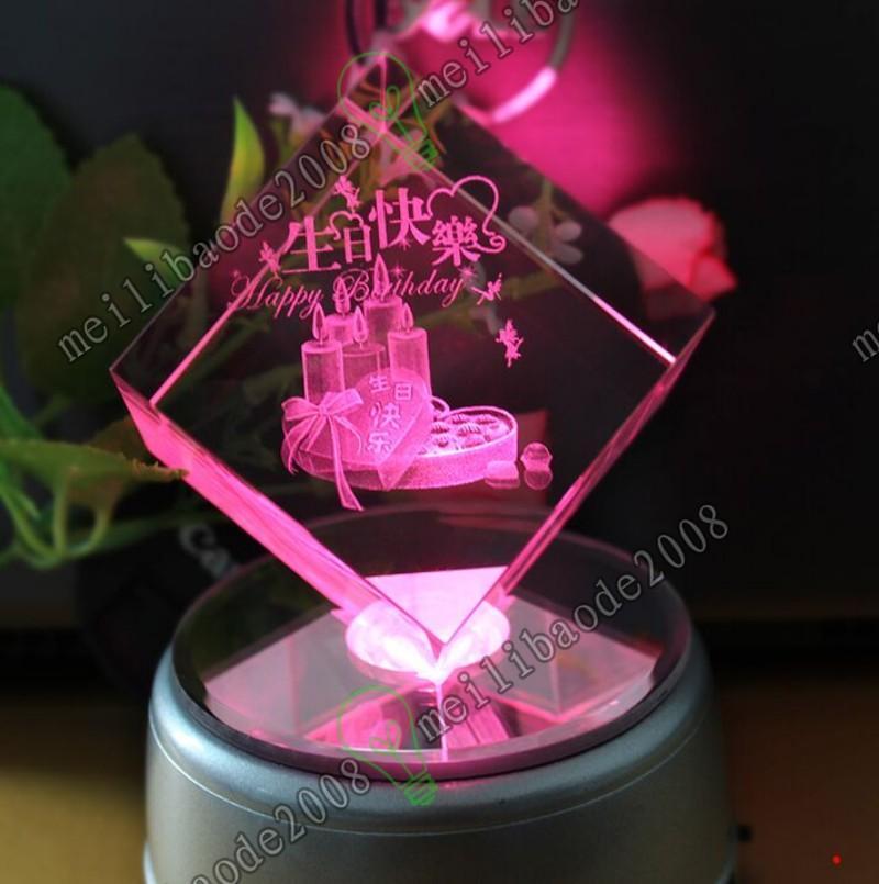 Nuevo regalo mágico Soporte de pantalla de cristal de cristal giratorio único Soporte de base de 360 grados Pantalla de cristal giratorio de 360 grados Soporte de base es LED Myy