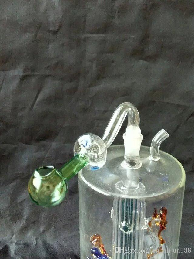 Mushroom long color pot bongs accessories  , Glass Water Pipe Smoking Pipes Percolator Glass Bongs Oil Burner Water Pipes Oil Rigs Smoking