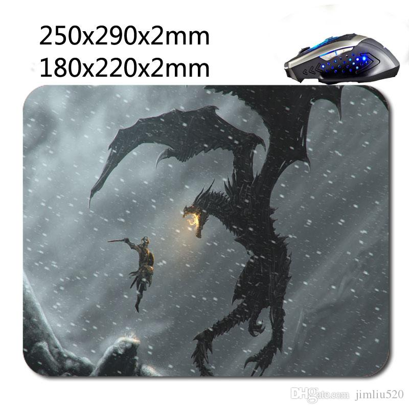 DIY Office Accessories Mouse Pad For Skyrim Design Custom Rubber Mouse Pad  Printing Fabrics 220X180x2mm 290x250x2mm Rubber -