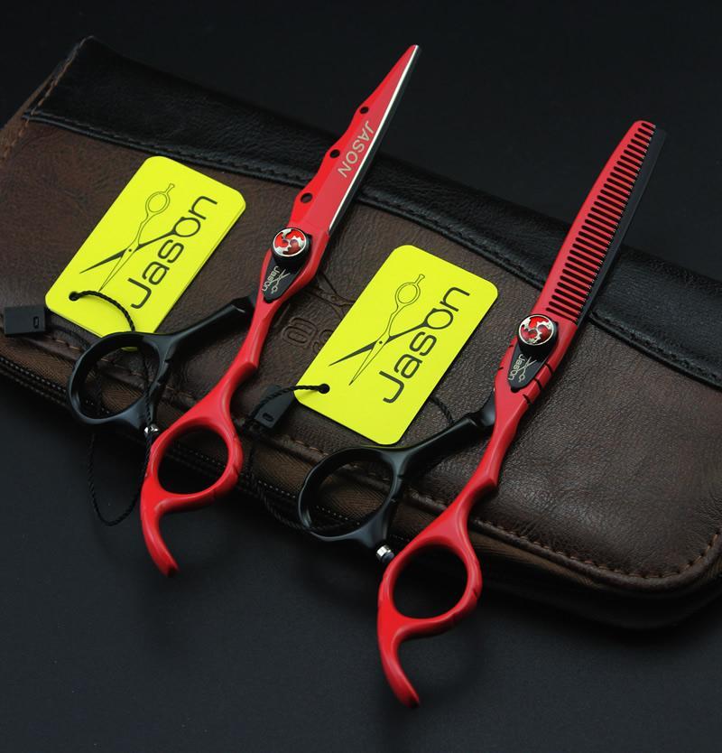 6.0inch Jason JP440C Forbici capelli professionali Kit di parrucchieri Forbici Taglio Forbici di assottigliamento con borsa Barbiere Negozio Forniture, LZS0552