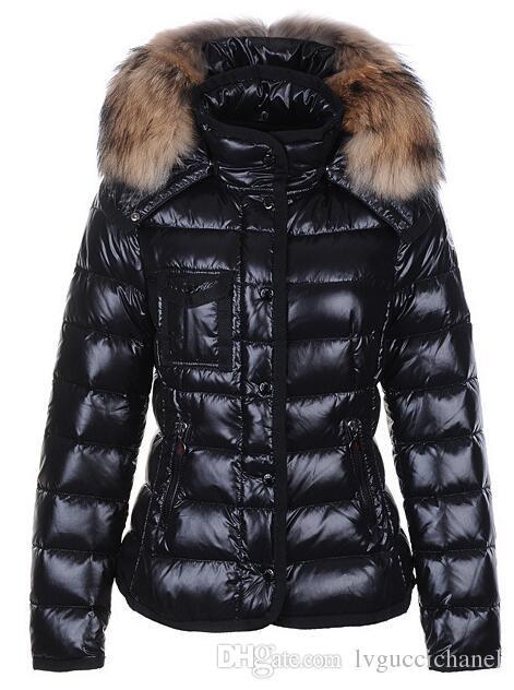 Marque Femmes Casual Bas Veste En Bas Manteaux Femmes En Plein Air Grand Col De Fourrure Chaud Plume robe D'hiver Manteau Outwear Vestes M207A