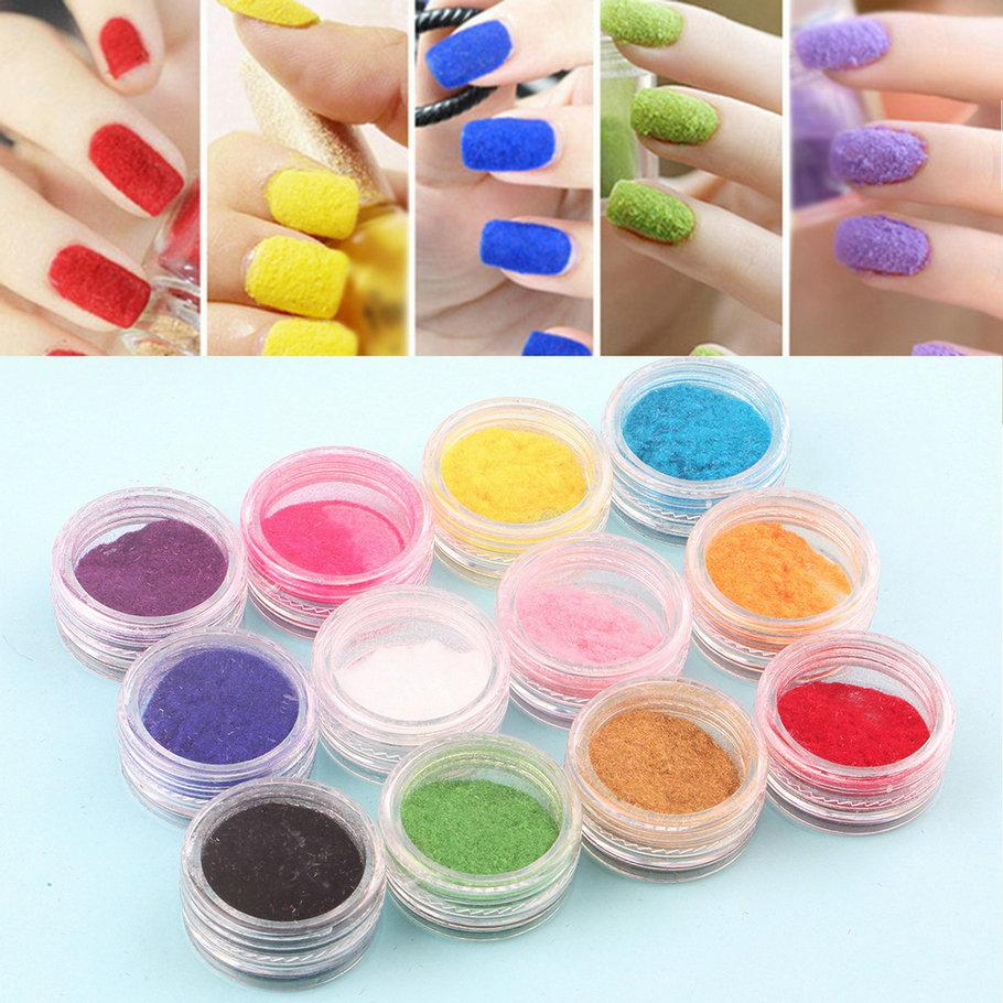 Wholesale Top Quality 12 Mix Colors Acrylic Powder Nail Art Dust