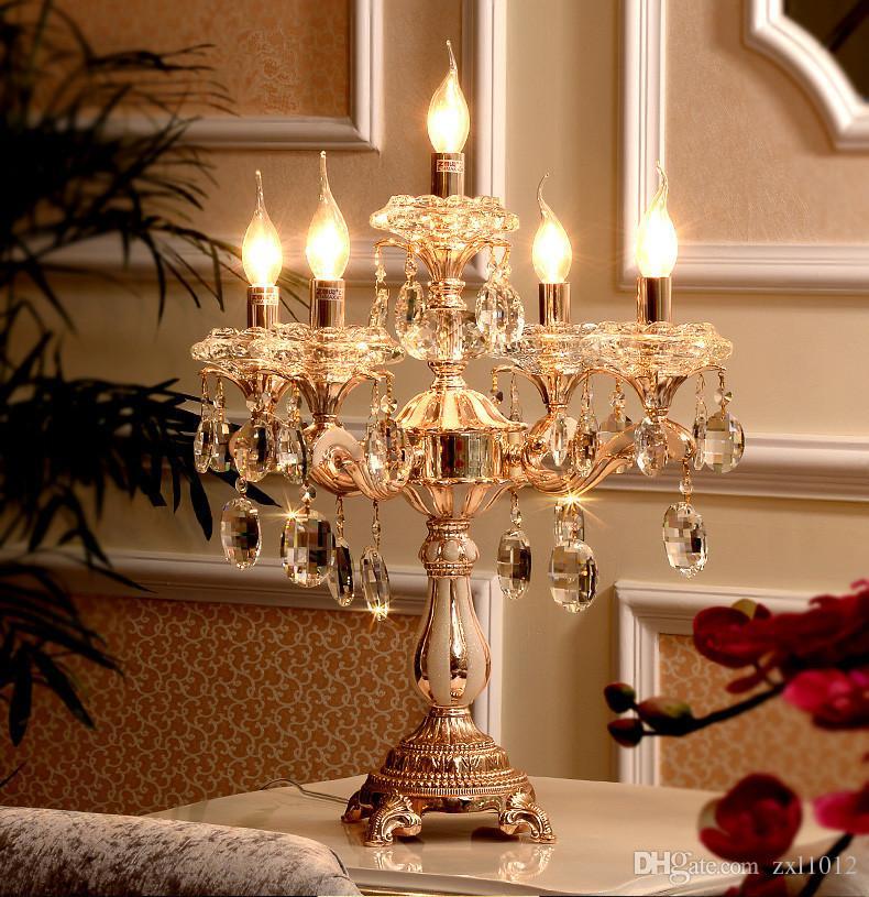Paris Led Wedding Candelabra Restaurant Crystal Table Lamp
