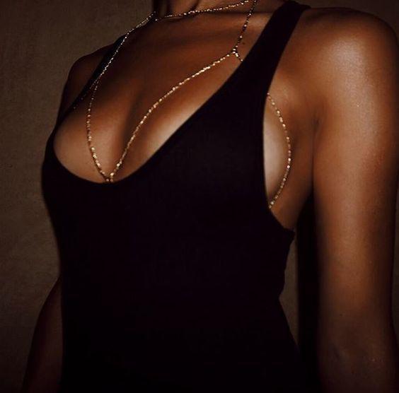 Marca de moda Garra de Cristal Bra Escravo Slave Cadeia Corpo Mulheres Strass Gargantilha Colar de Pingente de Biquíni praia jóia Do Corpo 2017