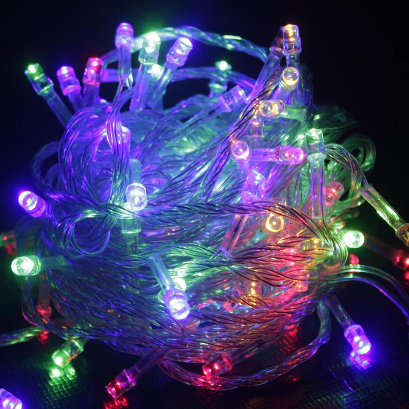wholesale 10m led string light christmas lights outdoor decoration waterproof fairy lights high bright garden lighting for party holiday string of led