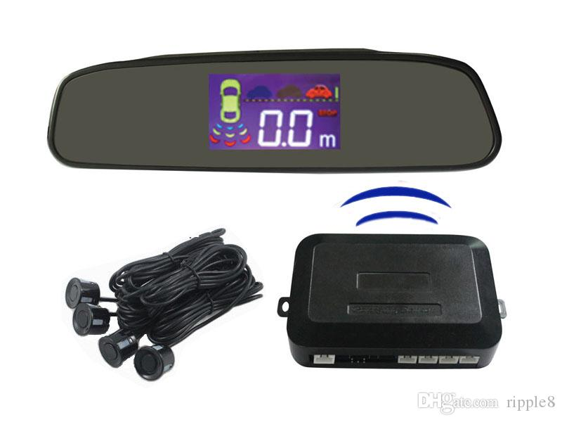 Wireless Led LCD Display Car Parking Sensor 4 Sensors 433MHZ BiBi Sound PZ306-W PZ312-W PZ314-W Automatically Work Free DHL