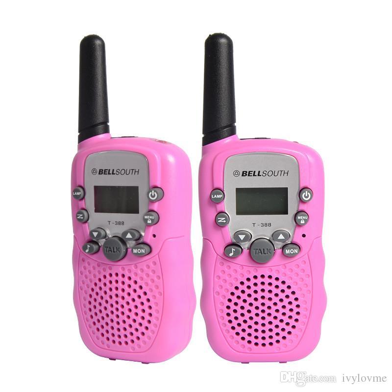 T388 Bambini Radio Toy Walkie Talkie Bambini Radio UHF Two Way Radio T-388 Bambini Walkie Talkie Pair For Boys and Girls Gift