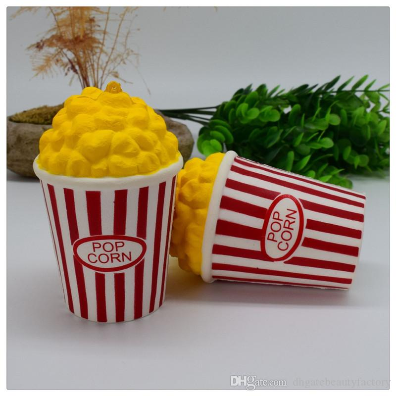 2017 New Popcorn Squishy Jumbo Soft Squishies Slow Rising Phone Straps Home Decoration Kid Toys Squeeze Stress Relief Toy