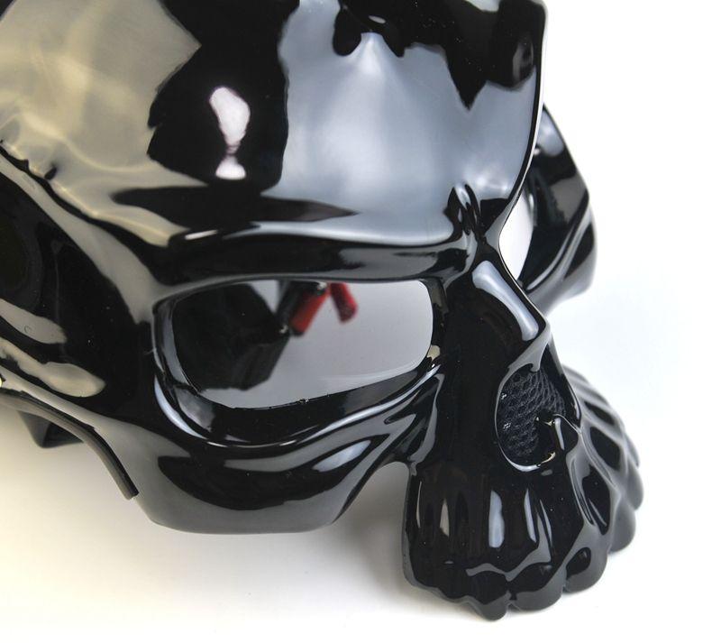 Masei 489 Dual Use Skull Motorcycle Helmet Capacete Casco Novelty Retro Casque Motorbike Bike Half Open Face Helmet