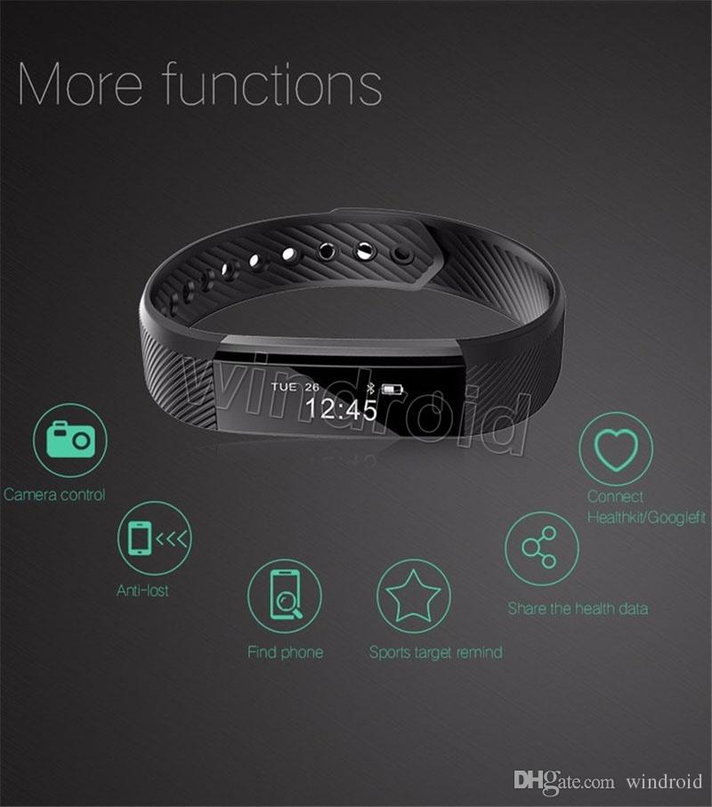 Sports Smart Band Smartband S115 115 HR Bluetooth Smartwatch Sports Wristband Bracelet Fitness Tracker for Women Men Free by DHL