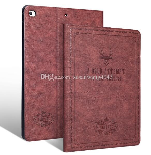 Leather Case For Ipad Mini Air Pro 1 2 3 4 5 6 7 Pro 10.5 Luxury Housing for Apple With Auto Wake Up+Sleep Flip Cover Tablet Holder GSZ380