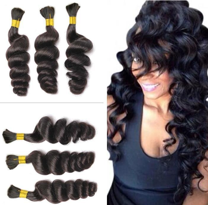 Peruvian Loose Wave Hair Bulk Loose Curls Peruvian Hair Weave