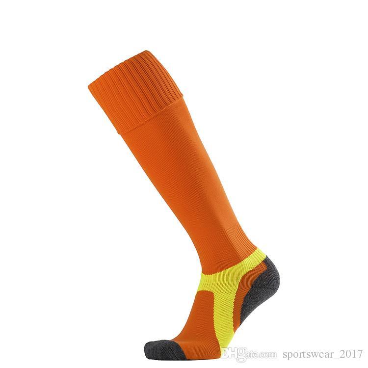 Hot sales Brand Sport socks football socks sports men's Knee High cotton soccer stocking thai quality Thicken Towel Bottom long hoses