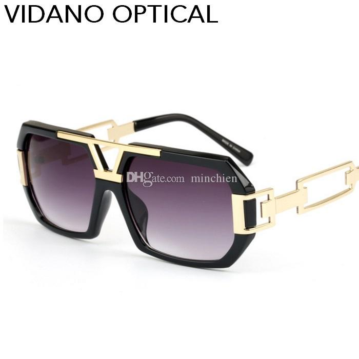 804a283a6f Vidano Optical New Luxury Big Square Men Sunglasses Women Gradient Summer  Designer Glasses Style UV400 Sunglass Cheap Sunglasses From Minchien
