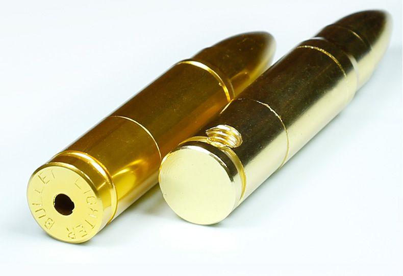 78mm Tubulação De Metal Tubo Criativo Bala Forma Tubos De Fumo com Filtro de Produto de Qualidade de Exportação Chioced Presente