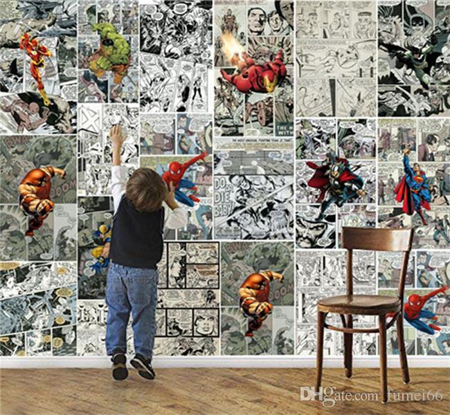 Marvel Comics Wallpaper 3d Wallpaper For Walls Mural Kids Bedroom Room  Decor Tv Background Wall Covering Super Hero Wallpaper Hd Wallpaper Pc Full  Hd ... Part 58