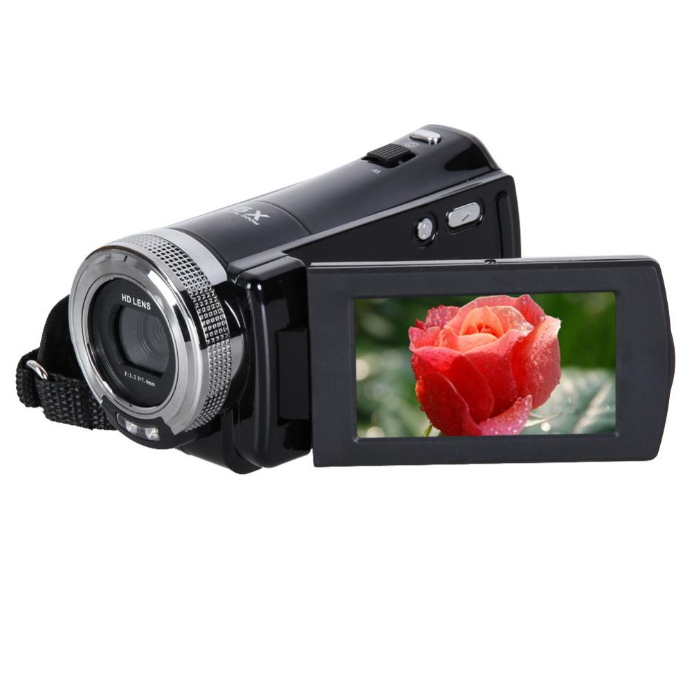 Wholesale-16MP 2.7 inch 270 Rotation Rechargeable LCD Camera Automatic Digital Video Recording Camcorder Full HD 16x Zoom DV Camera