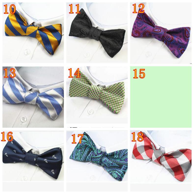 37 Couleurs Mens Self Bow tie 100% Soie Brand New Luxury Plain Tie Bowtie Butterflies Noeud Papillon D'affaires Mariage Multi-Couleurs