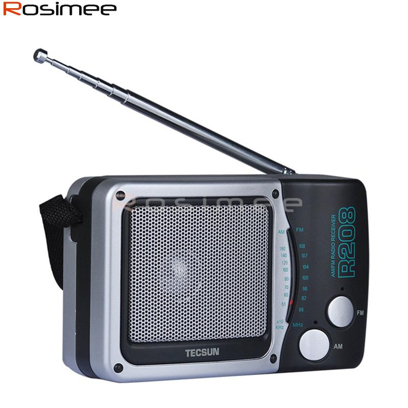 Whole Tecsun R 208 Small Sized Desktop Fm Am 2 Band Portable Durable Radio R208 Receiver High Sensitivity Satellite Radios From