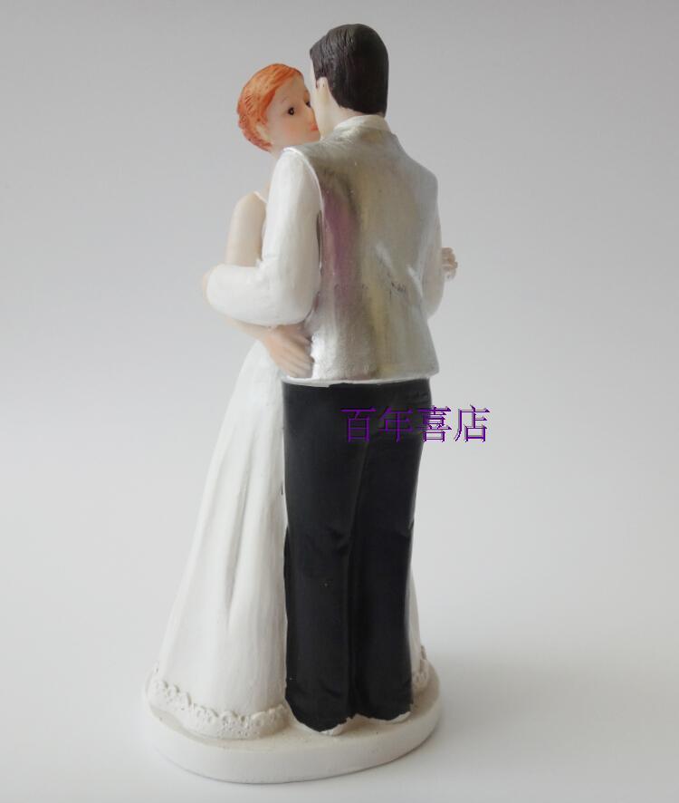 Harz Handwerk Dekoration romantische Kuss Braut und Bräutigam Hochzeitstorte Dekoration Braut Dekoration Elemente