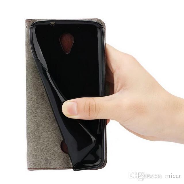 For Lenovo Vibe B A2016 K6 Retro Flip Stand Wallet Cases Crazy Horse Leather photo frame Holder Cover For Acer Liquid Zest Z525