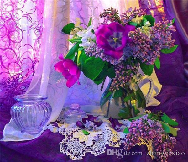 Diamant mosaïque plein carré diamant broderie broderie broderie rose orchidée diy diamant peinture kits de point de croix mosaïque Home Decor zxh0083