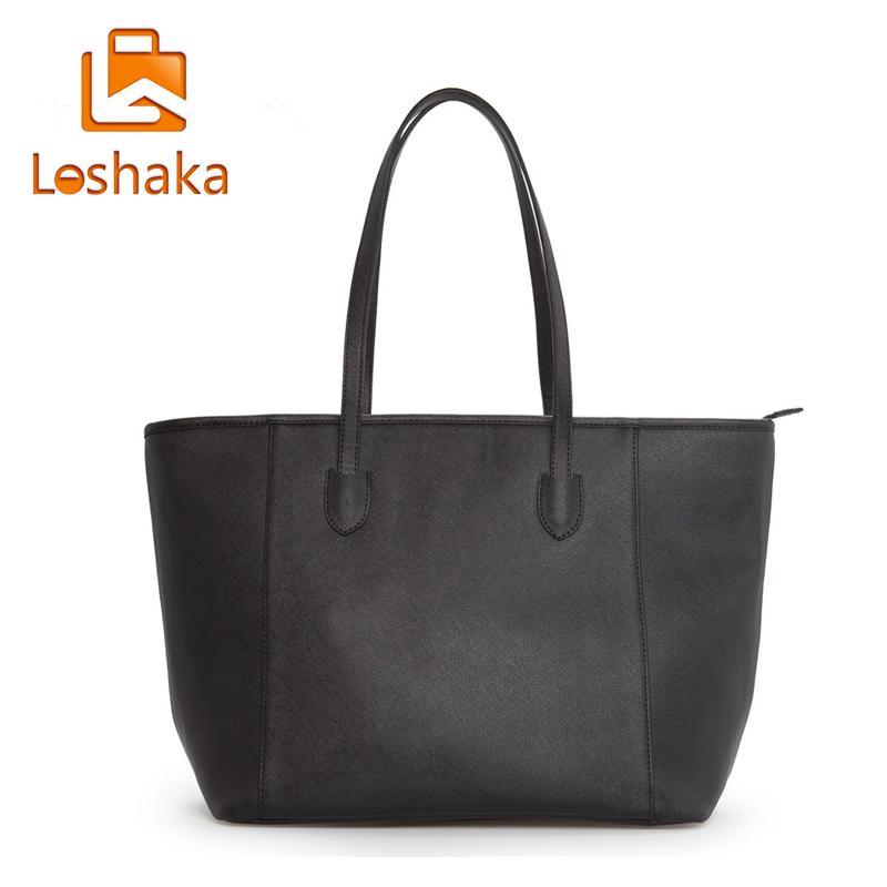 Wholesale- New Arrival Women Fashion Handbag Simple Generous Women Tote Shoulder  Bag Shopping Bag Embossing Designer PU Leather Bag Handbags Sling Bag ... 67df36a950a4e