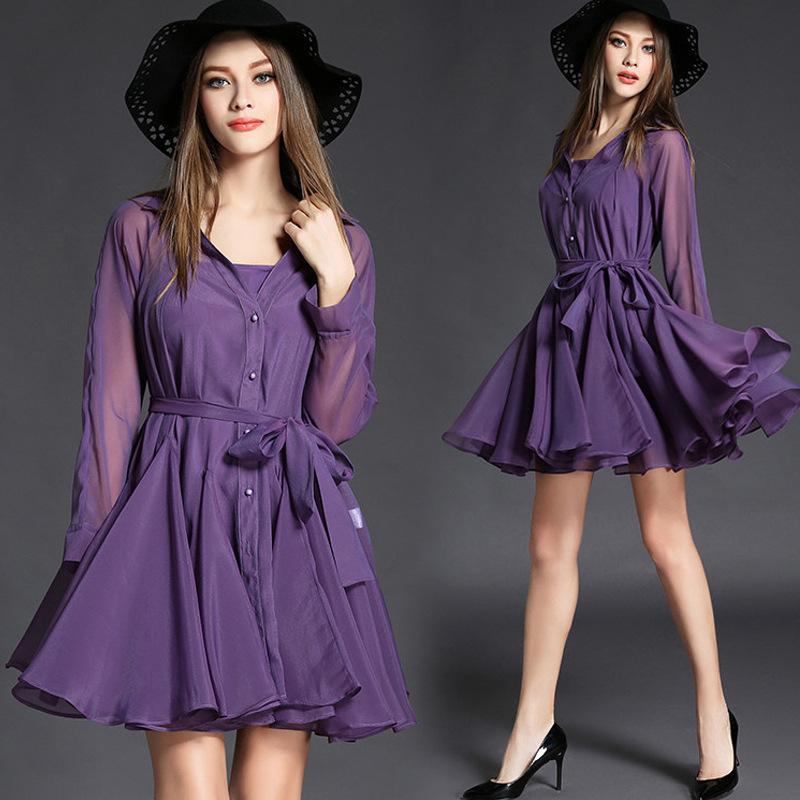Compre Ropa De Mujer, Vestidos De Verano, Púrpura, Aceptar, Cintura ...