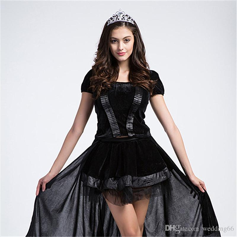 witch costume dresses a fairy tale cosplay game clothing masquerade queen include dresses headdress black party evening dresses nurse halloween costumes - Halloween Costumes Elmo
