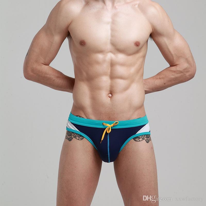 b2689fbf324bf 2019 New Men'S Swimwear Low Rise Sexy Pouch Man Swimming Briefs Board  Shorts Swimsuit Man Triangular Surf Swim Trunks From Xxwfactory, $10.07 |  DHgate.Com