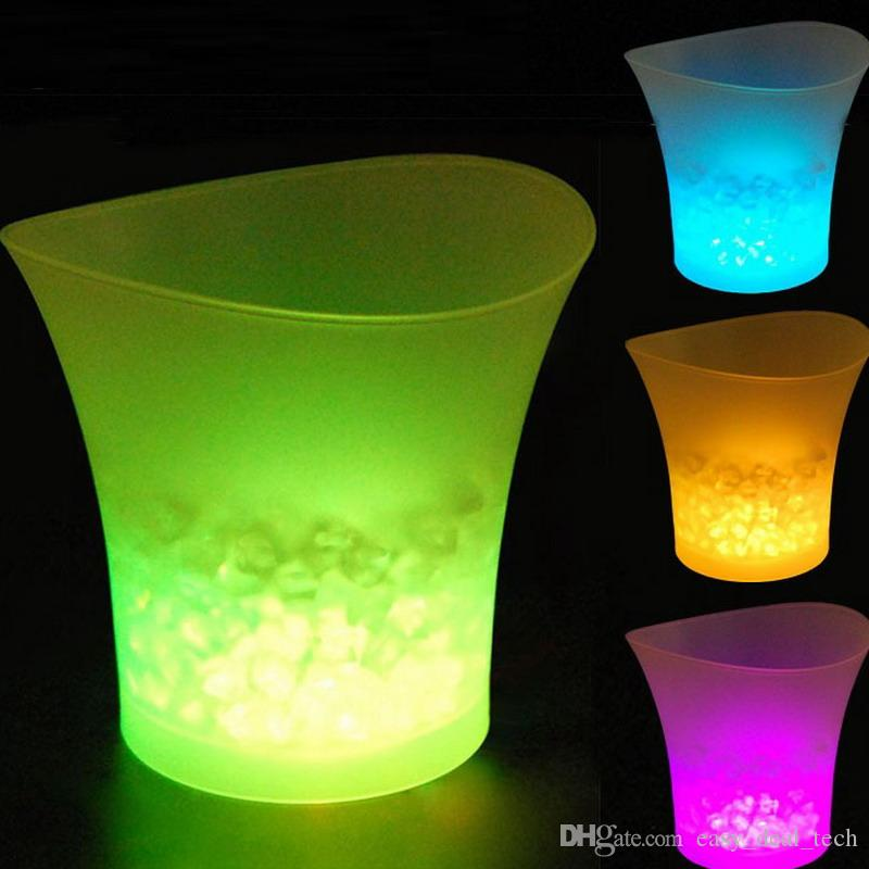 2018 New 5l Waterproof Plastic Led Ice Bucket Color Bars Nightclubs Led Flash Light Up Champagne Beer Bucket Bars Night Party Security & Protection