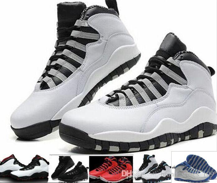 new concept 6d0b1 de663 Wholesale Cheap Bulls Over Broadway 10s Basketball Shoes Top Quality Men  Bulls Over Broadway 10 Sports Shoes Training Boots Sneakers 36 47