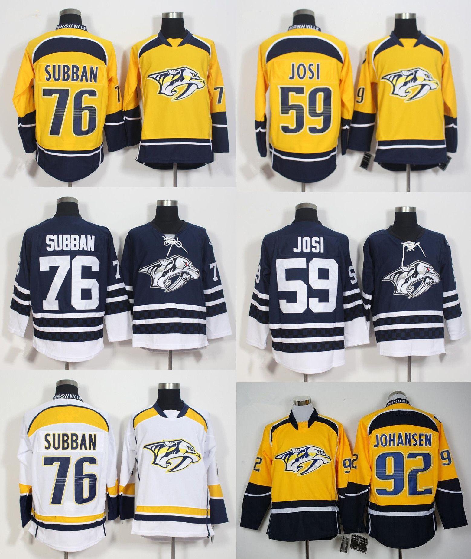 debef2852 ... new style mens nashville predators blank navy blue 1998 99 throwback stitched  nhl ccm vintage hockey