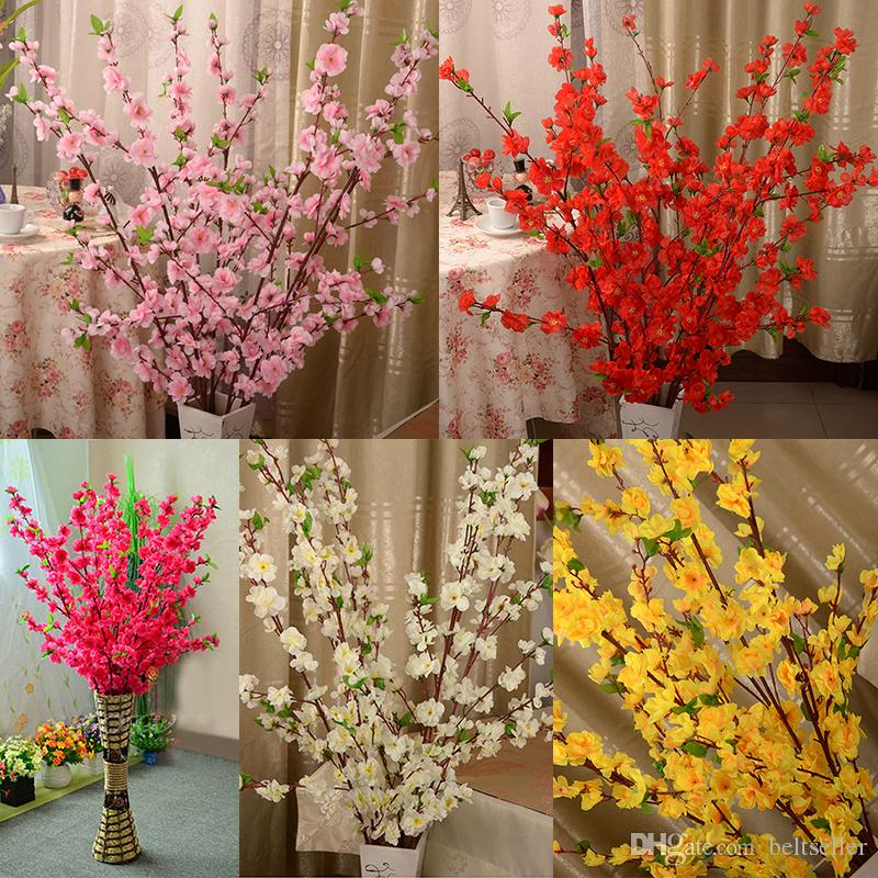 Buy best and latest brand artificial cherry spring plum peach buy best and latest brand artificial cherry spring plum peach blossom branch silk flower tree for wedding party decoration white red yellow pink color mightylinksfo