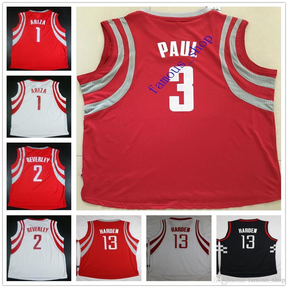 ... 2017 Custom Stitched Basketball 3 Ryan Anderson Jersey 1 Trevor Ariza 2  Patrick Beverley 10 Eric Mens Houston Rockets ... faaf2db49