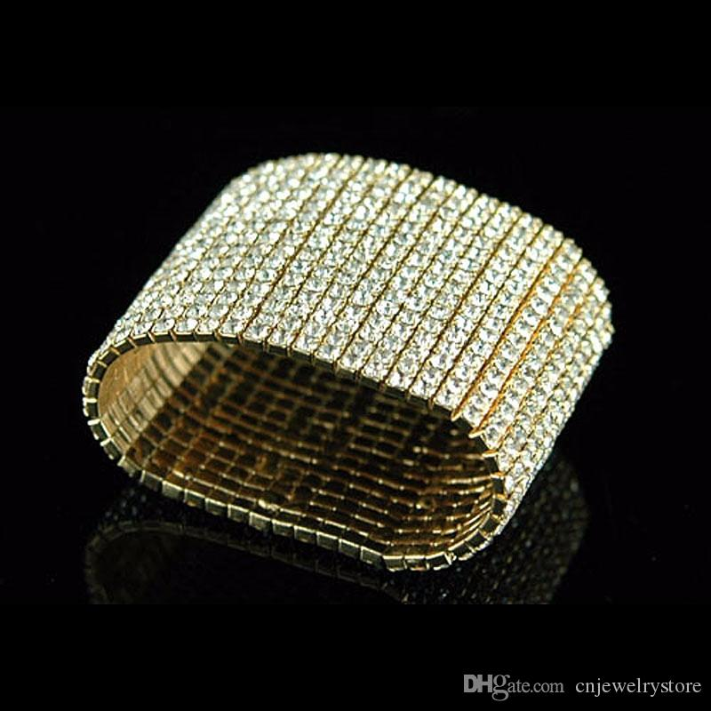 mesh stainless steel pin gold tone stretch rose bracelet silver boutique wide gorgeous