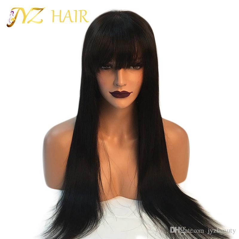 Parrucche malese dei capelli umani del merletto pieno / merletto anteriore di JYZ con i capelli del bambino Glueless parrucche piene del pizzo Capelli umani diritti serici vergini della Vergine malese