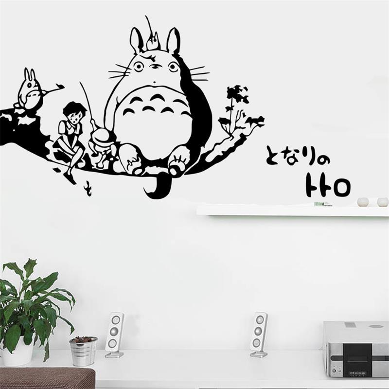 Cartoon Totoro Wall Sticker For Kids Room Nursery Kindergarten Classroom  Children Stickers Waterproof Quotes Stickers For Walls Quotes Wall Stickers  From ...